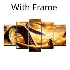 canvas painting dragon ball super z wallpapers 5 pieces wall art modular poster print for living room decor