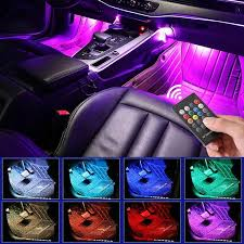 <b>LED Car Foot Light</b> Ambient Lamp With USB Wireless Remote ...