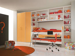orange feat purple loft bunk bed foor teenagers with wooden affordable furniture to go chairs teen room adorable rail bedroom
