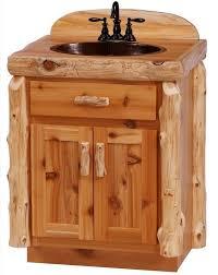 bear cedar log bathroom cedar log bathroom vanity from the log furniture store