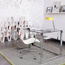 glass top desks cb2 office