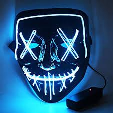 CENOVE <b>Halloween</b> LED <b>Mask</b> with 3 Flash Modes, LED <b>Purge</b> ...