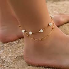 Modyle Bohemia <b>2pcs</b>/<b>set Anklets</b> for <b>Women</b> Foot Accessories ...