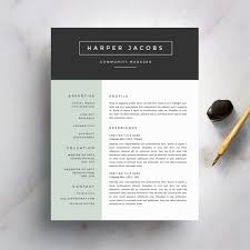 modern resume template and cover letter by refineryresumecomodern resume template and cover letter template for word   diy printable  pack   professional