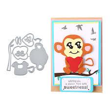 <b>Eastshape Monkey</b> Hug Heart Metal Cutting <b>Dies</b> New 2019 Stencils ...
