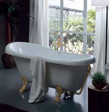 <b>Ванна Kerasan Retro</b> 1055 91 белая с золотыми ножками, сифон ...