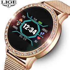 <b>LIGE Fashion</b> Ladies watch Fitness Tracker Sport <b>Smartwatch</b> For ...