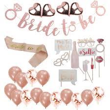 Compre Rose Gold Bride To Set Set Team Bride <b>Globos</b> Banner ...