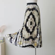 Женские длинные плиссированные <b>юбки</b> с геометрическим ...