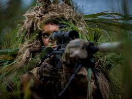Army <b>snipers</b> played hide and seek to test new <b>ghillie</b> suits