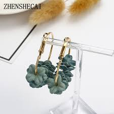 <b>Korean 2018</b> Elegant Fabric Flower goop Earrings Bijoux <b>Sweety</b> ...