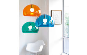 the icon of the hanging lamp is fly designed by ferruccio laviani for kartell a piece of timeless design cheerful colorful to be installed in full bloom lamp gold ferruccio laviani