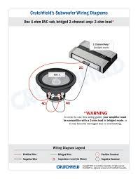 subwoofer wiring diagrams 1 dvc 4 ohm 2ch low imp