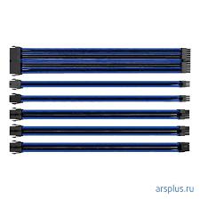 <b>Набор кабелей Thermaltake</b> TtMod Sleeve Cable – Blue/Black ...