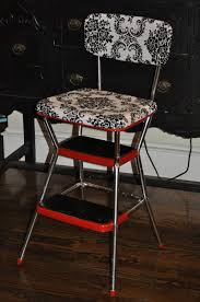 colors retro step stool kitchen chair step stool retro kitchen chair with step stool