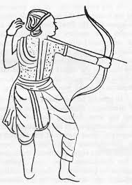 Depiction of a Guptan archer