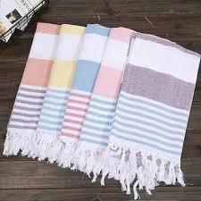 Turkish <b>Beach</b> Towel <b>Cotton</b> Stripes Thin Bath Travel Camping ...