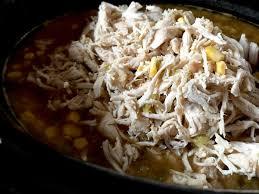 Crockpot <b>Creamy White</b> Chicken Chili - The Skinnyish Dish