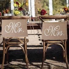 <b>2pcs</b>/<b>set Wedding Decoration Pennant</b> Reception Sign Mr And Mrs ...