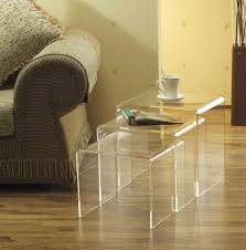 lucite acrylic furniture full size of tables amp chairs 3pc modern acrylic nesting end table three acrylic furniture legslucite table leghigh transparent