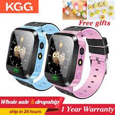 KGG KG02 ילדי חכם שעון מצלמה תאורה ילדים שעון מגע מסך SOS שיחת ...