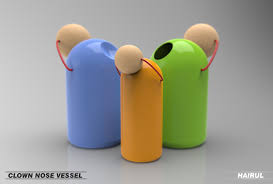 product modeling and visualisation lancers d product modeling and visualisation 3d model clown nose vessel self initiative project