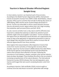 essay on tourism tourism in natural disaster affected regions sample essay tourism in natural disaster affected regions sample essay