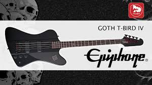 <b>EPIPHONE GOTH</b> T-BIRD <b>IV BASS</b> PLAIN BLACK - <b>бас гитара</b> для ...