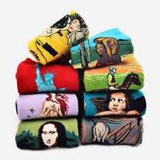 <b>CHAOZHU</b> 1Pair Fashion Retro <b>Women</b> Men Painting Mona Lisa Art ...