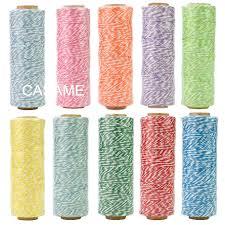100% natural <b>cotton rope</b> 4ply (100Yards) <b>1pcs</b> thin Bakers twine ...