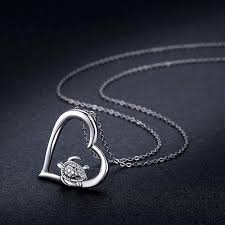 Turtle Necklace Turtle Jewelry 925 Sterling Silver ... - Amazon.com
