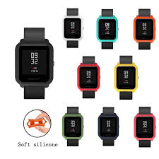 <b>Silicone</b> Protective Frame Cover for Xiaomi Huami Amazfit Bip Bit ...