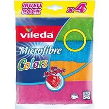 <b>Салфетка VILEDA Colors</b> (<b>Колорс</b>) из микрофибры 4 шт | www.gt ...