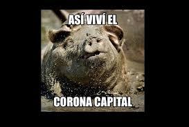 Toman en broma inclemencias del tiempo en el Corona Capital ... via Relatably.com