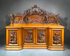 antique robinson crusoe sideboard carved in english oak c 1862 ms rau antiques antique english country armoire circa 1830s
