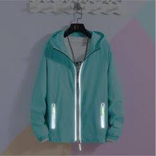 Online Shop S-7XL Jackets Summer <b>Autumn</b> Fashion Hooded Solid ...