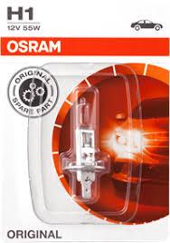<b>Лампа OSRAM H1</b> 55W 12V P14,5S, блист. 64150-01B – купить в ...