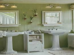 country bathroom colors:  awesome awesome country bathroom colors bathroom in country style green walls sinks with pedestals