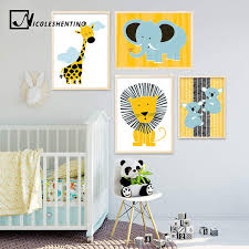 Online Shop <b>Cartoon</b> Giraffe Lion Elephant <b>Animal</b> Posters and ...
