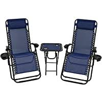 Sale Sunnydaze Zero Gravity <b>Reclining Lounge Chairs</b> with Pillows ...