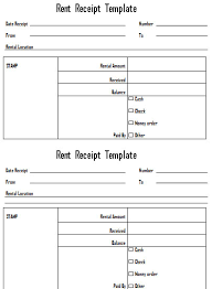 get rent deposit receipt template from  invoice  landloardrentaltemplate middot rent receipt template