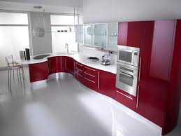 green kitchen cabinets couchableco: modern red and white kitchen design come with curve