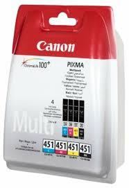 Купить <b>Набор</b> картриджей <b>Canon CLI</b>-<b>451</b> Multipack C/M/Y/BK ...