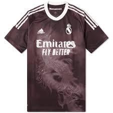 Adidas <b>Real Madrid</b> x Human Race Football Club Jersey <b>Black</b> ...