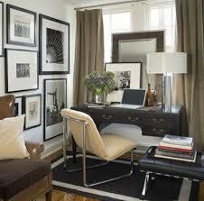 david jimenez chic modern den office design with taupe velvet drapes black desk chic office design