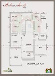 CONTEMPORARY ELEVATION AND HOUSE PLAN   ARCHITECTURE KERALAFour bedroom kerala house plan in square feet