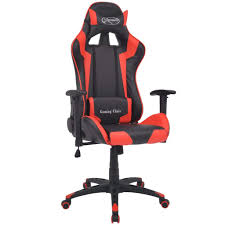 vidaXL <b>Reclining Office Racing</b> Chair Artificial Leather Red– House ...