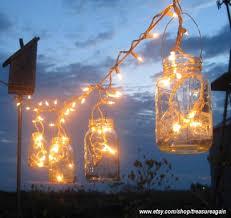 mason jar diy treasure again blue mason jar string lights
