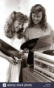 1980s 2 TEENAGE <b>GIRLS READING VINYL</b> RECORD ALBUM ...