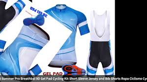 2018 Summer Pro Breathbal <b>9D</b> Gel Pad Cycling Kit Short Sleeve ...